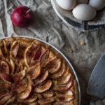 Omenapiirakka rahkatäytteellä