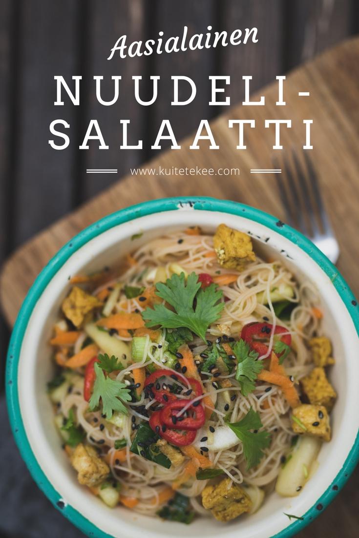 Aasialainen nuudelisalaatti | riisinuudeli | tofu | salaatti