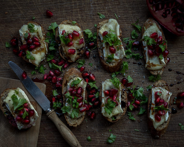 Briejuusto crostini | alkupalat | leipä | helppo resepti | ruokablogi