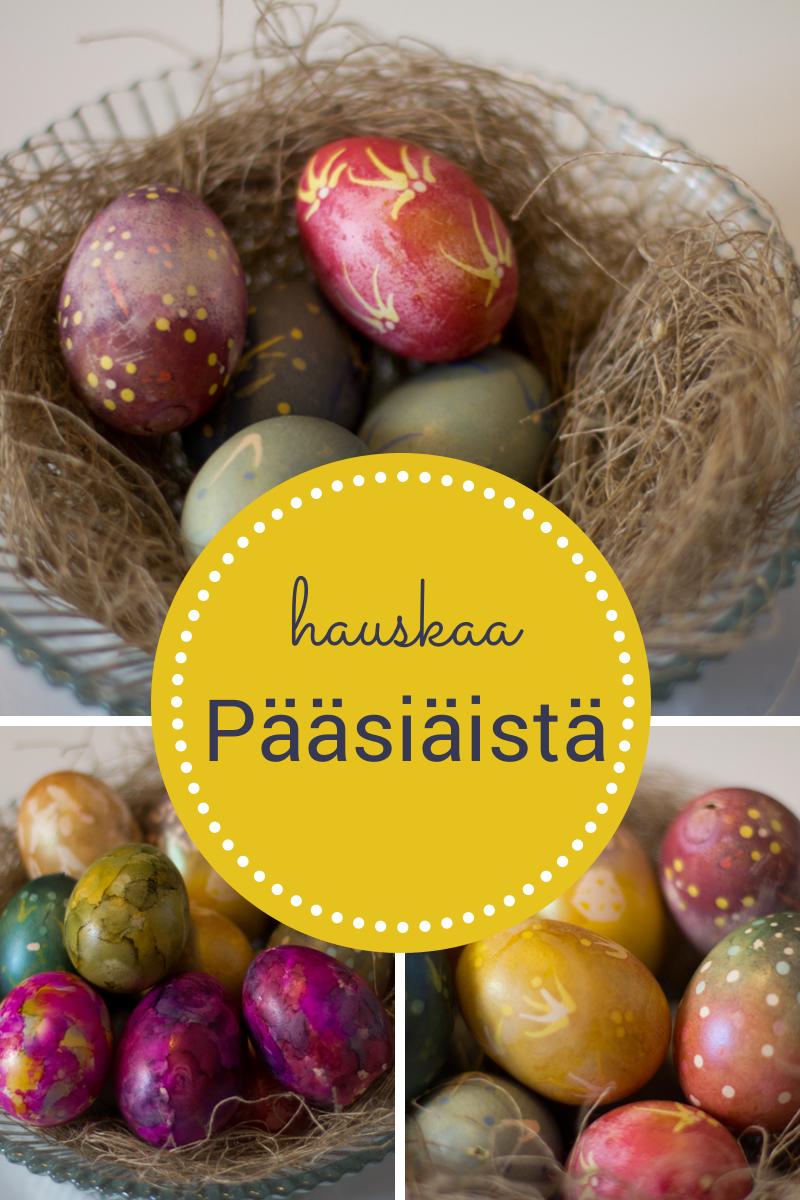 Vielä ehtii koristella pääsiäismunia!