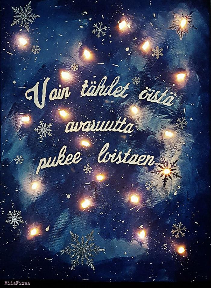 DIY joulukalenteri – Luukku 7: Miian jouluinen valotaulu