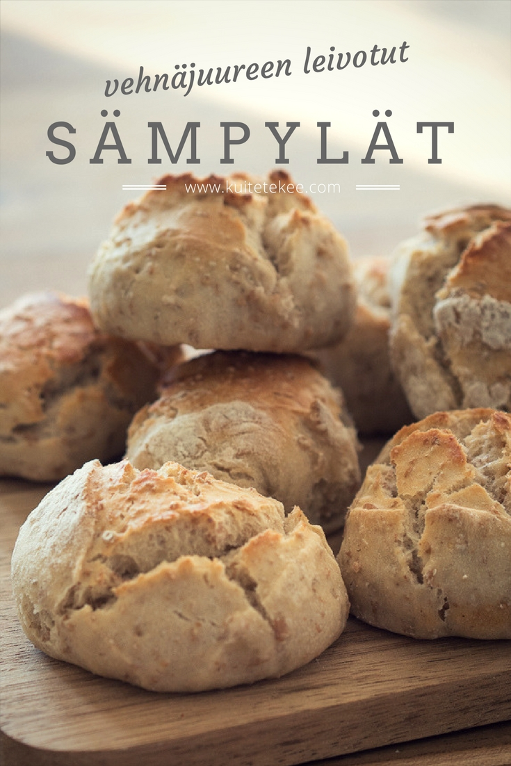 Vehnäjuureen leivotut sämpylät